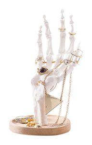 Porte bijoux squelette de main