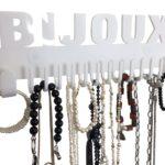 Porte bijoux mural blanc Galeara pour colliers
