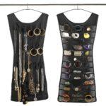 Robe porte-bijoux en polyester à suspendre