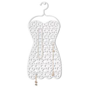 Robe organisateur à bijoux de couleur blanc